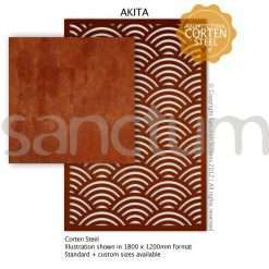 Akita design Sanctum Screens Corten Steel