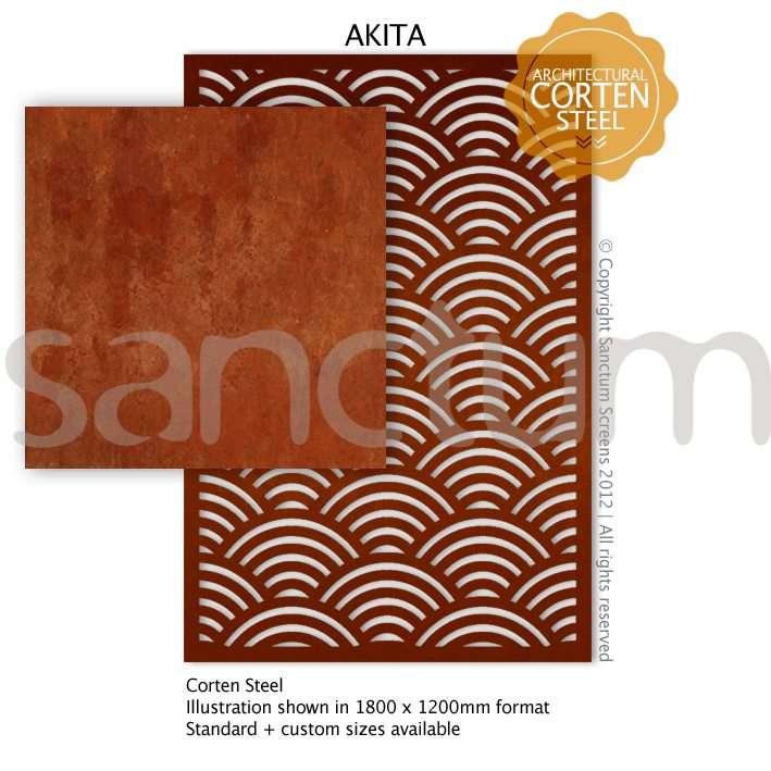 Akita design Sanctum Screens Corten Steel
