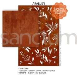 Araluen design Sanctum Screens Corten Steel