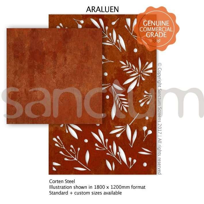 Araluen design Sanctum Screens Corten Steel