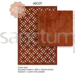 Ascot design Sanctum Screens Corten Steel