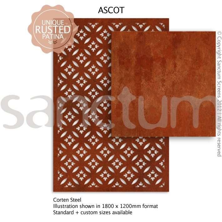 Ascot design Sanctum Screens Corten Steel