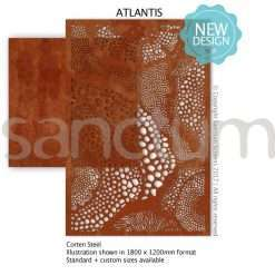 Atlantis design Sanctum Screens Corten Steel