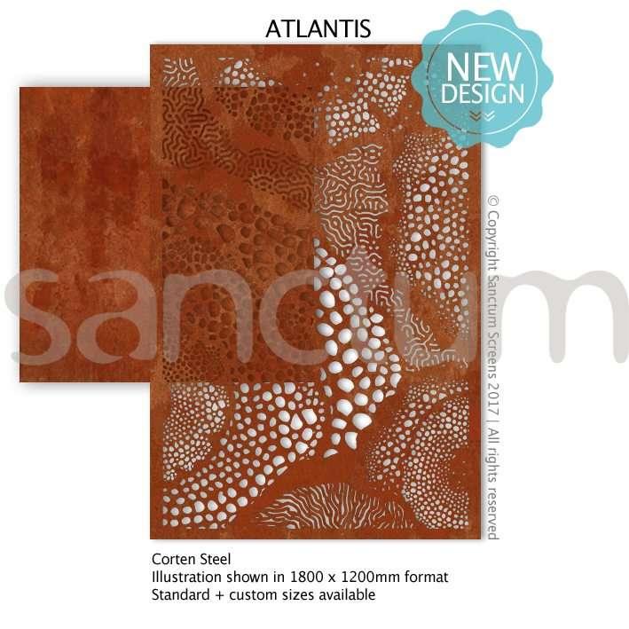 Atlantis design Sanctum Screens Corten Steel