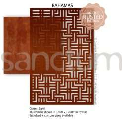 Bahamas design Sanctum Screens Corten Steel