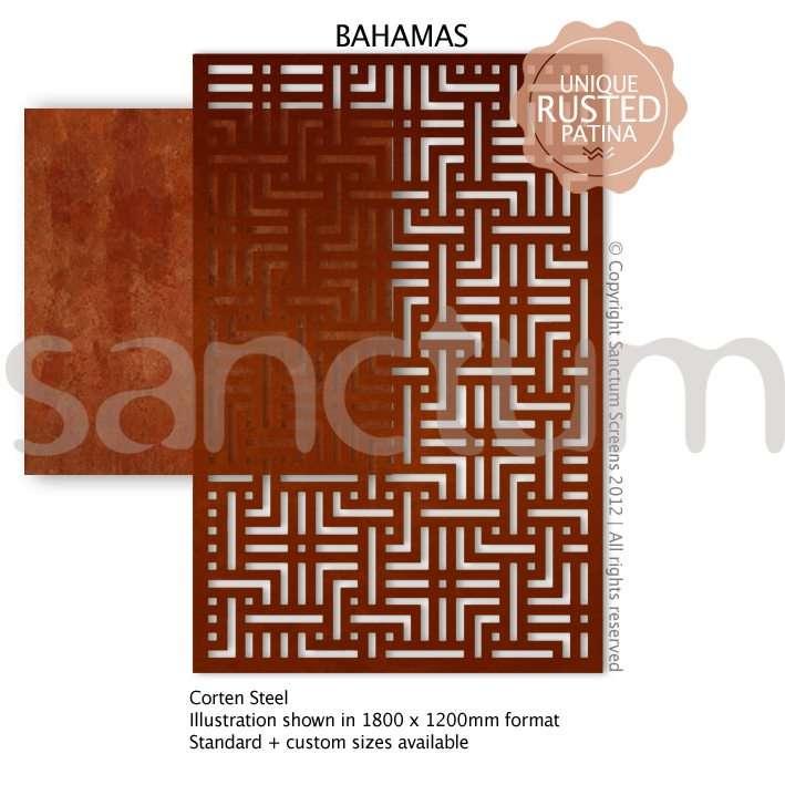 Bahamas design Sanctum Screens Corten Steel