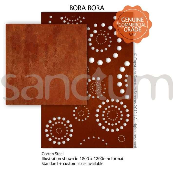 Bora Bora design Sanctum Screens Corten Steel