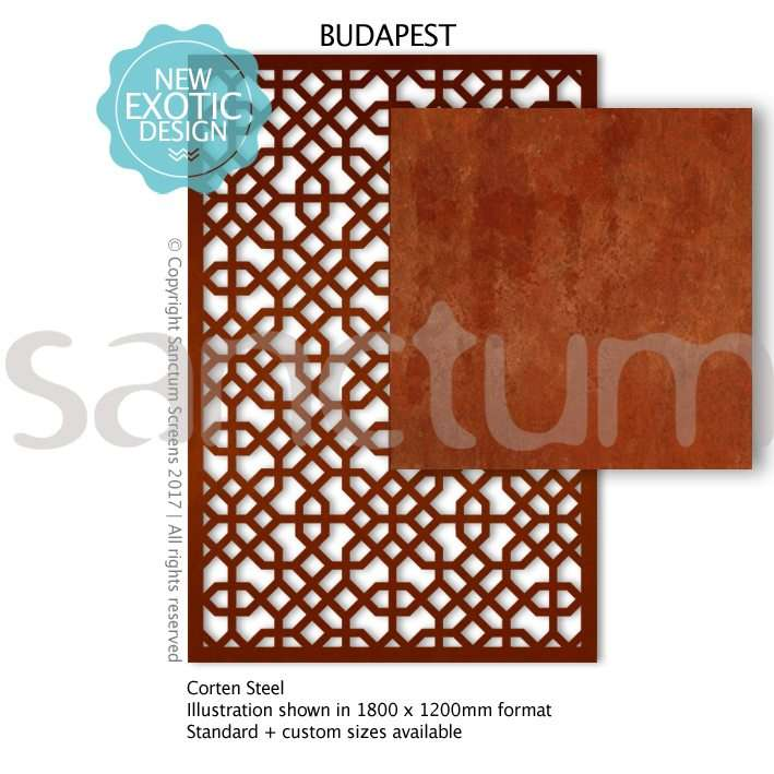 Budapest design Sanctum Screens Corten Steel