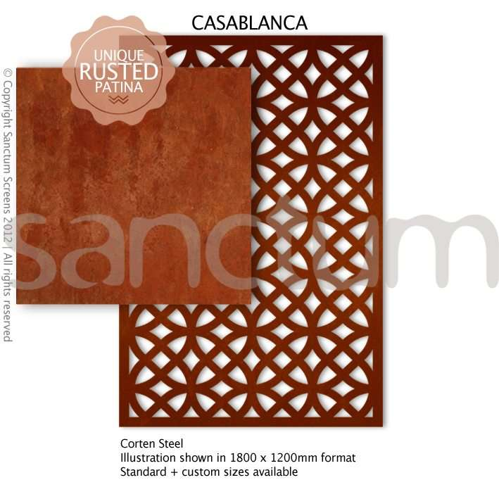 Casablanca design Sanctum Screens Corten Steel