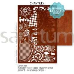Chantilly design Sanctum Screens Corten Steel