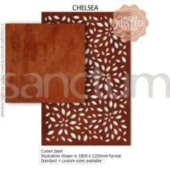 Chelsea design Sanctum Screens Corten Steel
