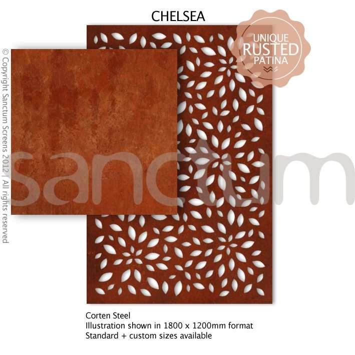 Chelsea design Sanctum Screens Corten Steel