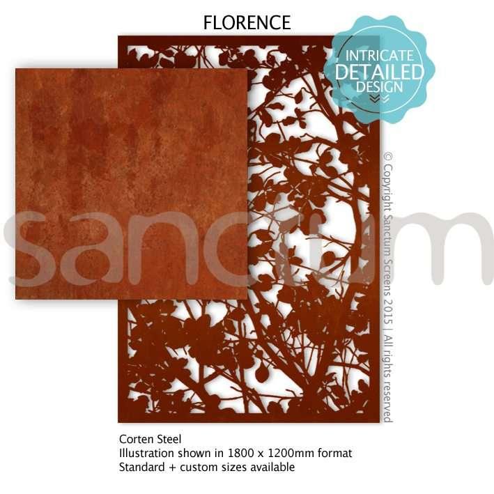 Florence design Sanctum Screens Corten Steel