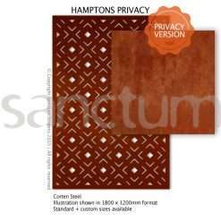 Hamptons Privacy design Sanctum Screens Corten Steel