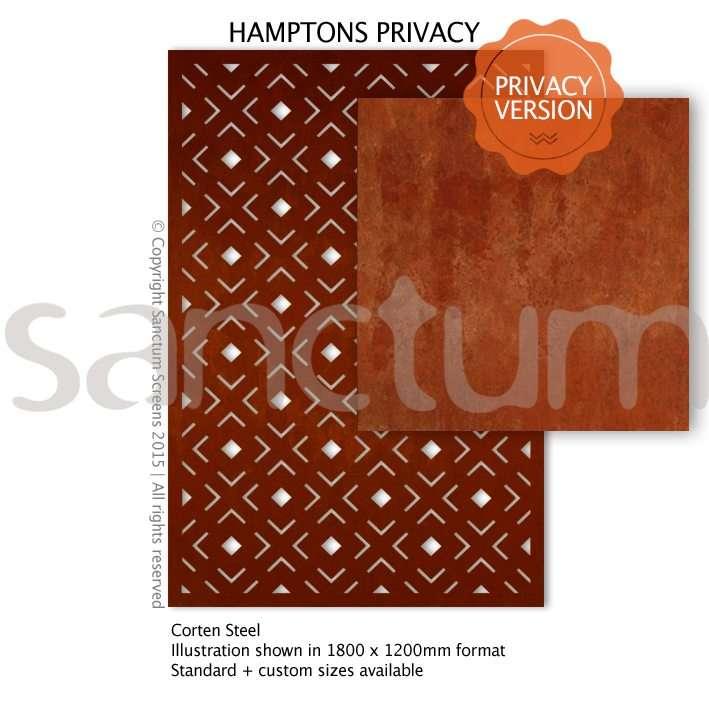 Hamptons Privacy design Sanctum Screens Corten Steel