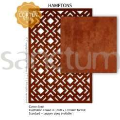 Hamptons design Sanctum Screens Corten Steel