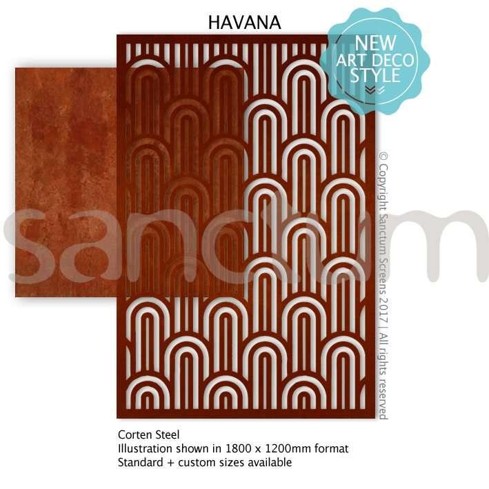 Havana design Sanctum Screens Corten Steel