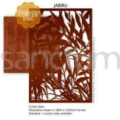 Jabiru design Sanctum Screens Corten Steel
