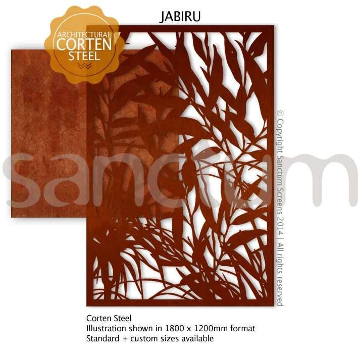 Jabiru design Sanctum Screens Corten Steel