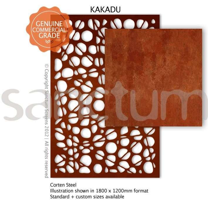 Kakadu design Sanctum Screens Corten Steel