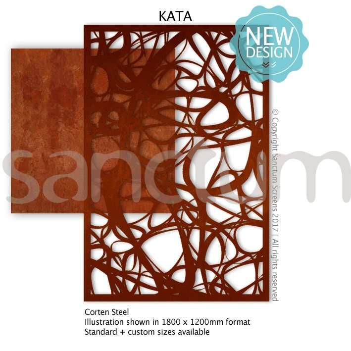 Kata design Sanctum Screens Corten Steel