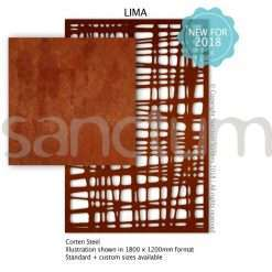 Lima design Sanctum Screens Corten Steel