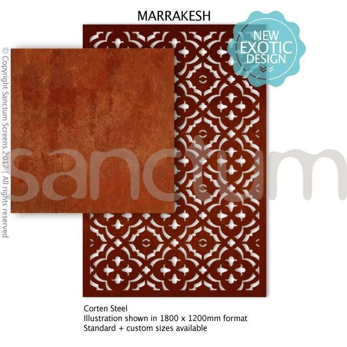 Marrakesh design Sanctum Screens Corten Steel