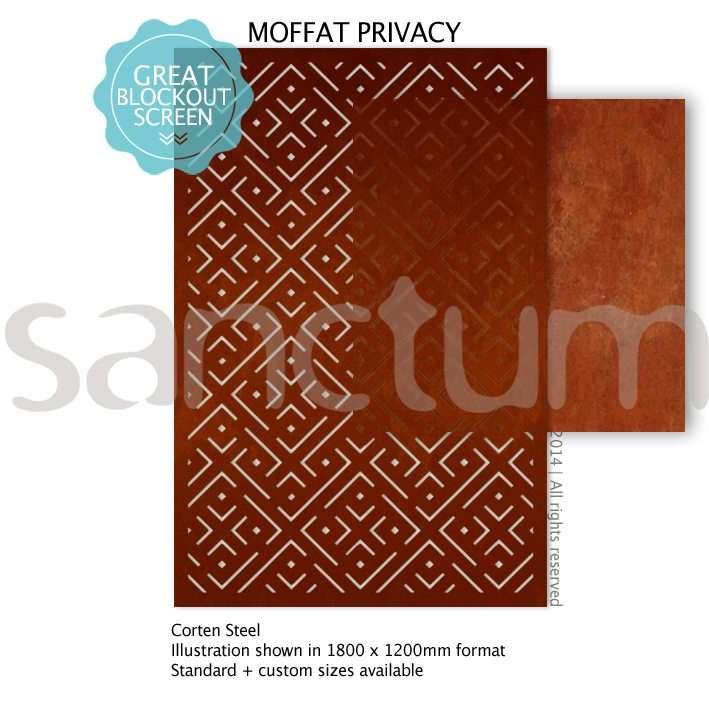 Moffat Privacy design Sanctum Screens Corten Steel