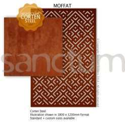 Moffat design Sanctum Screens Corten Steel