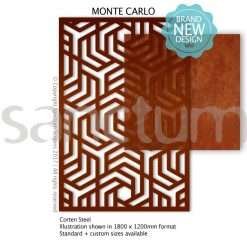 Monte Carlo design Sanctum Screens Corten Steel