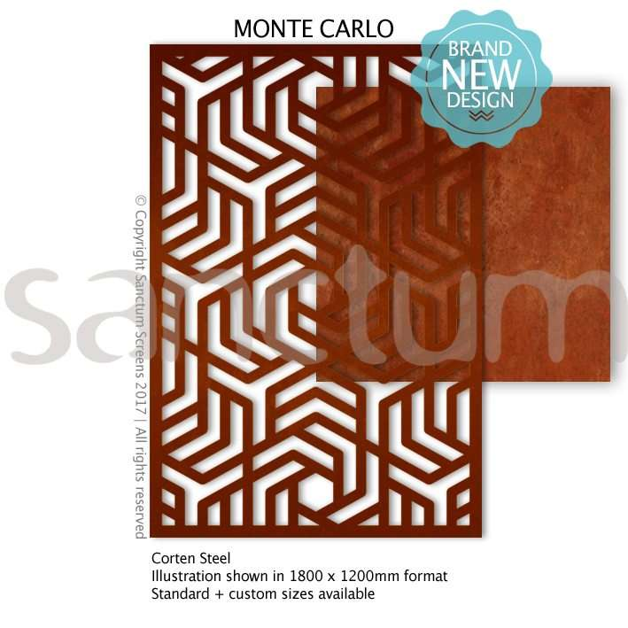 Monte Carlo design Sanctum Screens Corten Steel