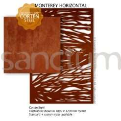 Monterey Horizontal design Sanctum Screens Corten Steel