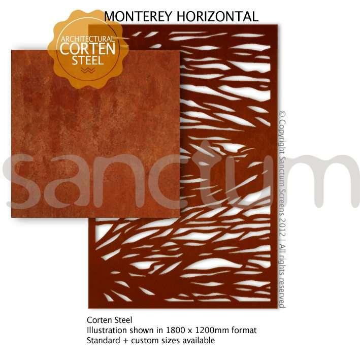 Monterey Horizontal design Sanctum Screens Corten Steel