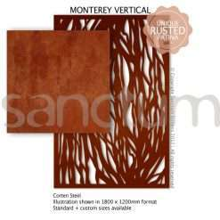 Monterey Vertical design Sanctum Screens Corten Steel