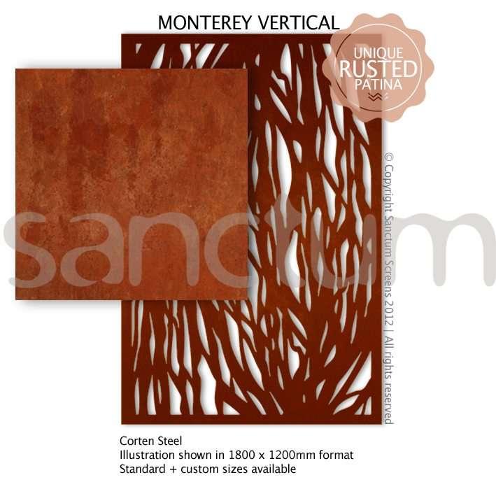 Monterey Vertical design Sanctum Screens Corten Steel