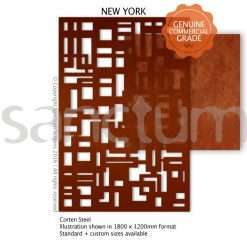 New York design Sanctum Screens Corten Steel