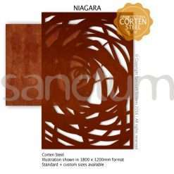 Niagara design Sanctum Screens Corten Steel