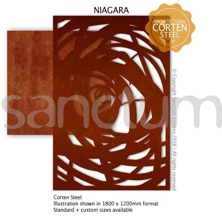 Niagara design Sanctum Screens Corten Steel