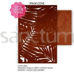 Palm Cove design Sanctum Screens Corten Steel