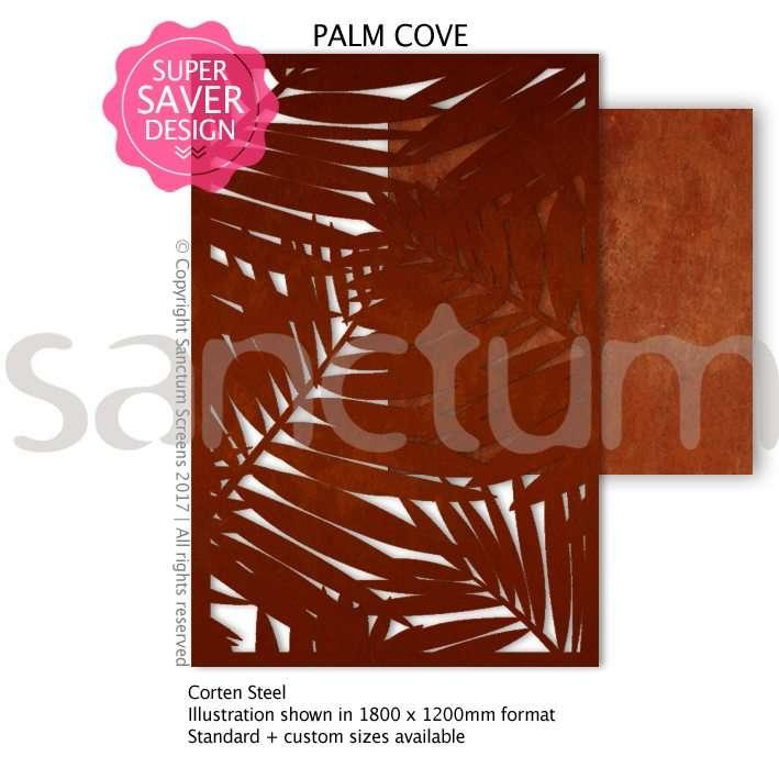 Palm Cove design Sanctum Screens Corten Steel