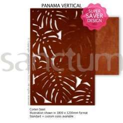Panama design Sanctum Screens Corten Steel