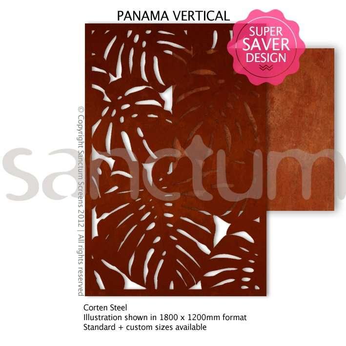 Panama design Sanctum Screens Corten Steel