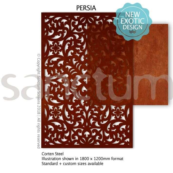 Persia design Sanctum Screens Corten Steel