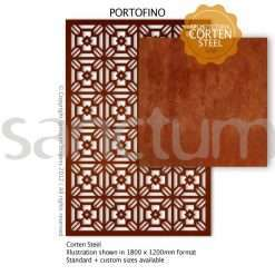 Portofino design Sanctum Screens Corten Steel