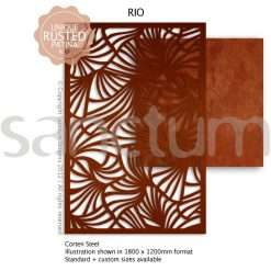 Rio design Sanctum Screens Corten Steel