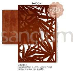 Saigon design Sanctum Screens Corten Steel