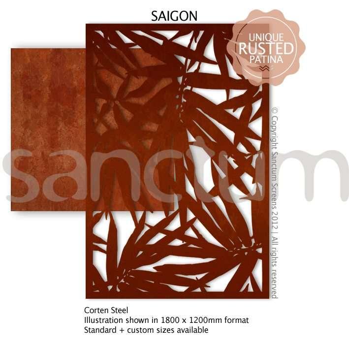 Saigon design Sanctum Screens Corten Steel