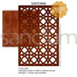 Santorini design Sanctum Screens Corten Steel