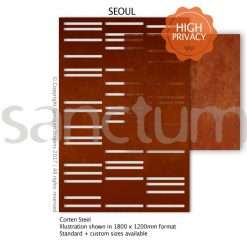 Seoul design Sanctum Screens Corten Steel