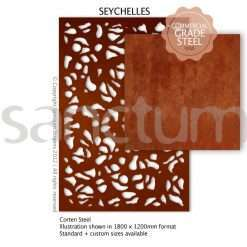 Seychelles design Sanctum Screens Corten Steel
